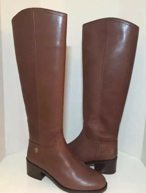 747f23d6fd7 New Tory Burch Fulton Knee-High Boot Sepia Brown 55 mm Boot Size 7.5 M