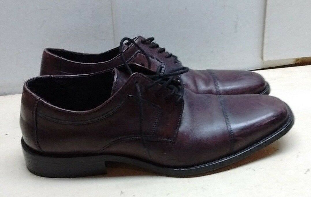 Johnston & Murphy 10.5 M Brown Leather Oxfords J. Murphy Dress Casual shoes Mens
