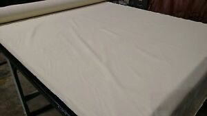 Canvas-Twill-Fabric-Natural-Cream-7-5-Oz-Cotton-Poly-64-034-W-Upholstery-Apparel