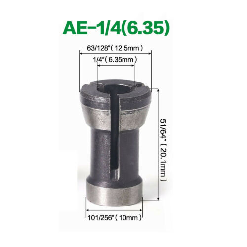 6 6,35 8mm Schaft Router Bit Erweiterung Collet Chuck Gravur Trimmmaschine