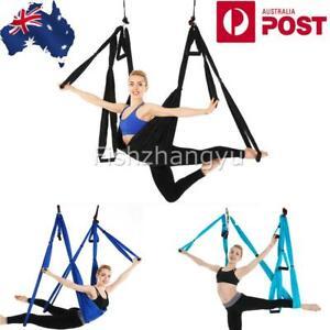 Aerial Yoga Hammock Swing Trapeze Invertion Pilates Sling Anti-Gravity Fitness