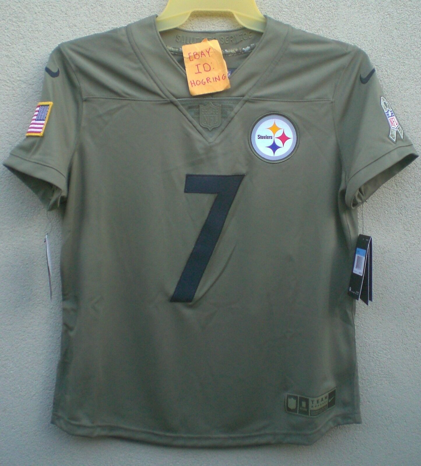 detailed look e79cf ecfd2 Nike Ben Roethlisberger Womens Salute To Service Pittsburgh Steelers Jersey  $160