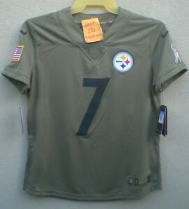 timeless design dab1b 120d7 Details about Nike Ben Roethlisberger Womens Salute To Service Pittsburgh  Steelers Jersey $160