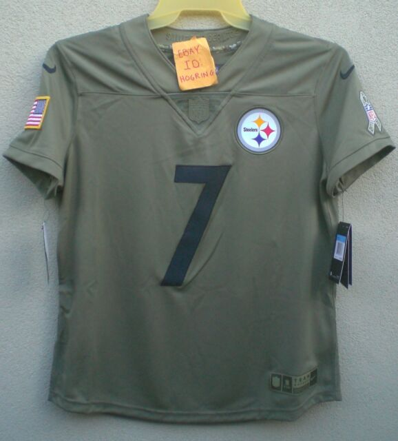 detailed look 91b6d ae7ef Nike Ben Roethlisberger Womens Salute To Service Pittsburgh Steelers Jersey  $160
