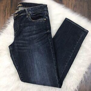 KUT-From-The-Kloth-Size-12-Katy-Boyfriend-Jeans-Dark-Wash