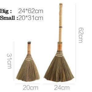 Handle Soft Bristle Broom Wood Floor