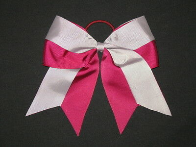 "NEW /""Two-Tone ORANGE /& TEAL/"" Cheer Bow Pony Tail Ribbon Girls Hair Cheerleading"