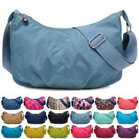 Women Tote Messenger Cross Body Nylon Handbag Hobo Bag Ladies Shoulder Bag Purse