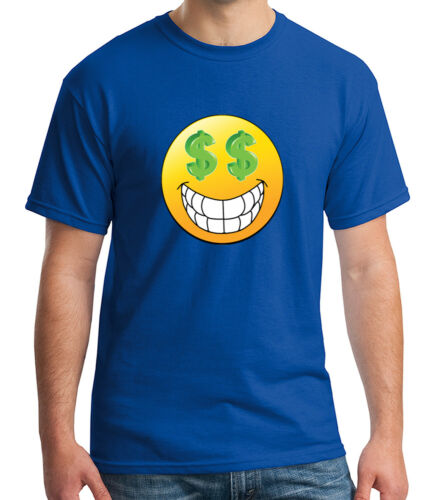 Dollar Face Emoji Adult/'s T-shirt Cool Money Eyes and Smile Tee for Men 1101C