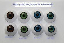 20mm Reborn Baby Dolls Eyeballs Half Round Acrylic Eyes DIY Accessories 4 Pairs