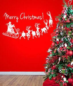 Adesivi Buon Natale.Dettagli Su Buon Natale Festivita Adesivo Vinile Da Parete Adesivo Decalcomania Da Parete