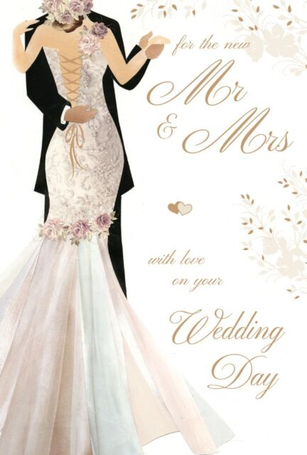 WEDDING DAY CARD QUALITY HEART DESIGN BEAUTIFUL VERSE BY WRITE FROM THE HEART