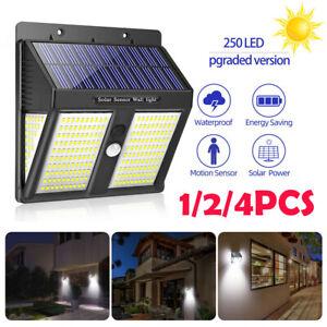 250-LED-Solar-Power-Lights-PIR-Motion-Sensor-Wall-Lamp-Garden-Waterproof-Outdoor