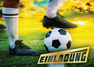 Details Zu Einladungskarten Einladungen Kinder Fussball Geburtstag Fussball Turnier