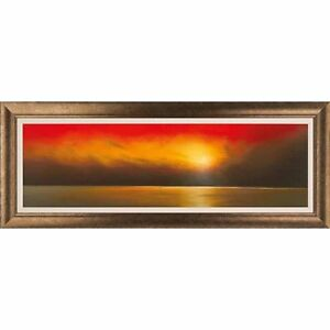 Lawrence-Coulson-UNDERNEATH-A-RED-SKY-FRAMED-Landscape-Beach-Seashore-2013