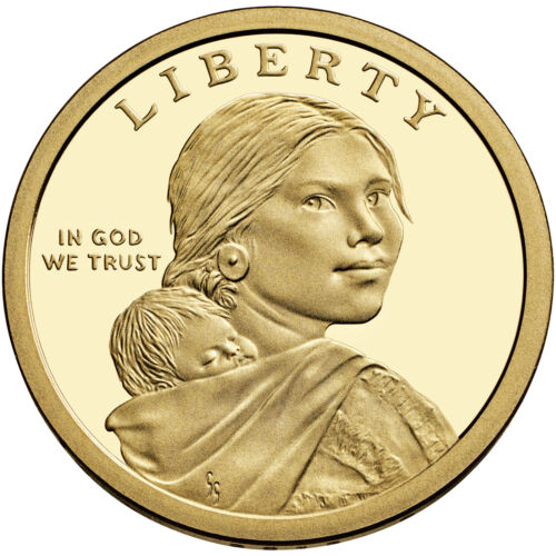 MINT ROLL 2014-D NATIVE AMERICAN SACAGAWEA GOLDEN DOLLAR UNCIRCULATED FROM U.S