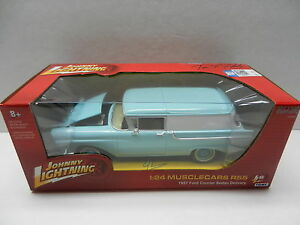 Johnny-Lightning-1-24-R55-Blue-1957-FORD-COURIER-Sedan-Delivery-NIB