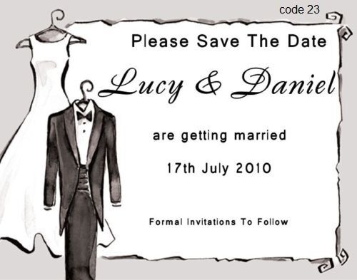 40 PERSONALISED MAGNETIC SAVE THE DATE WEDDING SAVE THE EVENING MAGNET CARDS