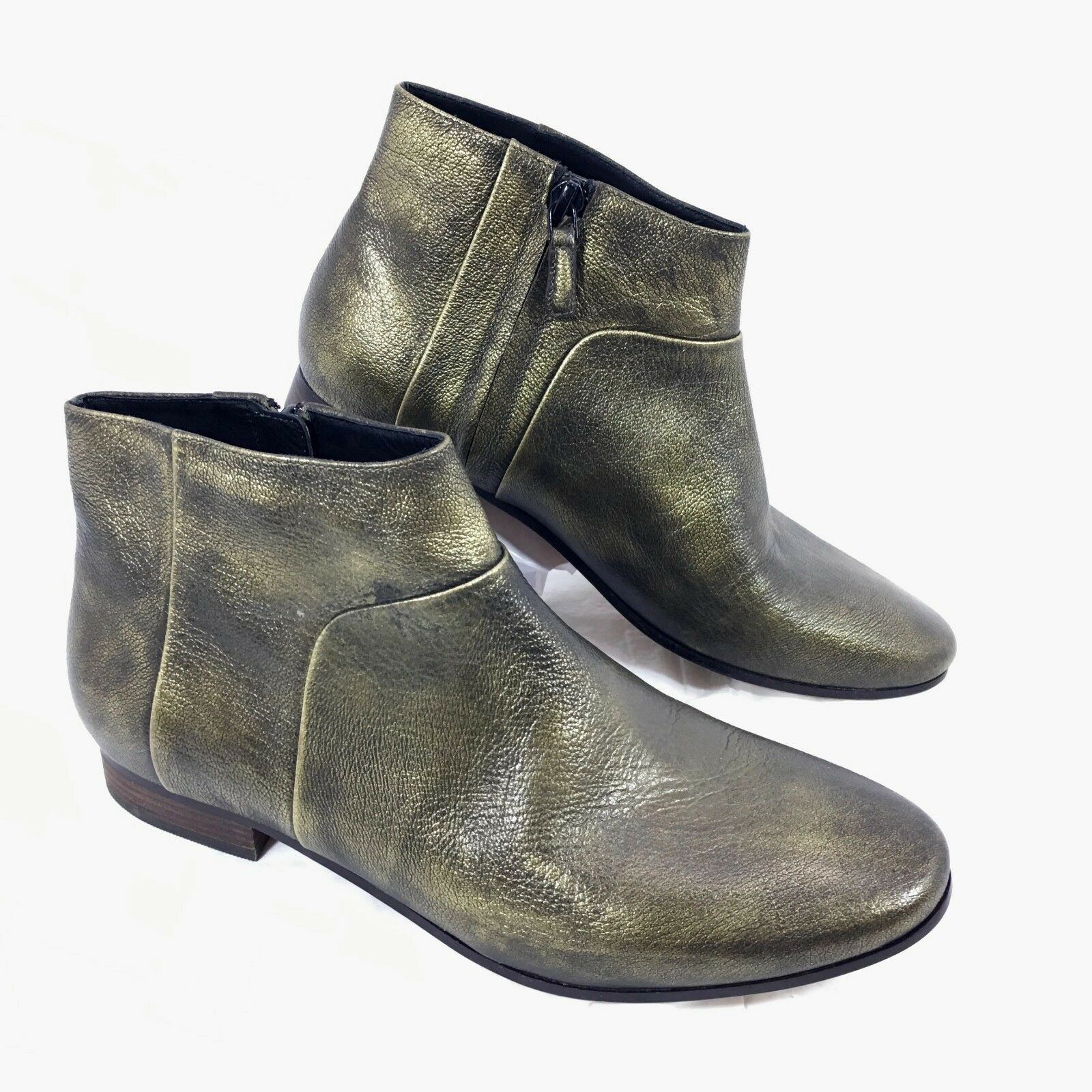Nuevo para mujer Cole Haan Allen botaie Metálico Bronce Bronce Bronce Cuero Tobillo botas Sz 7.5 B  mejor calidad mejor precio
