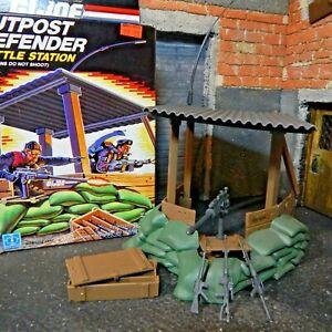 Gi Joe ~ Defender Outpost 1986 ~ Ensemble complet à 100% & Grande boîte non coupée !!