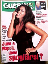Guerin Sportivo n°23 2001 Sabrina Ferilli - Con Film del Campionato  [G18]