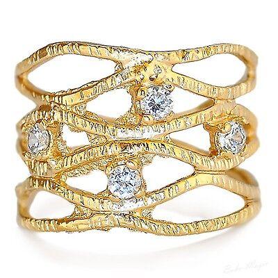 Gold Filled 14k Ring Genuine Swarovski Crystal Warranty Sizeable Free Shipping
