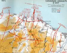 6x4 Gloss Photo wwA3C Normandy Map D-Day Juno Beach 6 June Soir