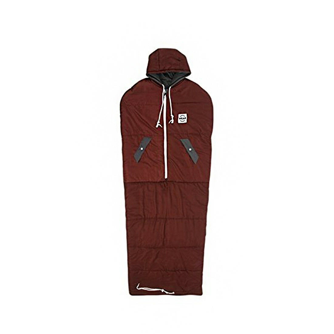 VINSONMASSIF Wearable Sleeping Bag for Camping Hiking Outdoors  Burgundy