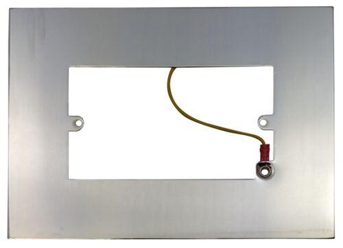 G/&h Unique /& Double Doigt Plaque Surround Chrome laiton acier noir bronze cuivre