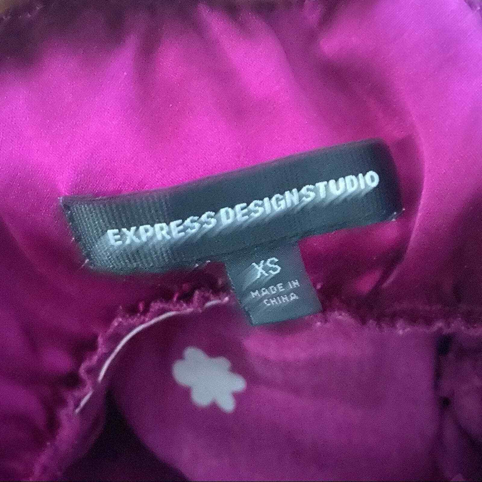 Express Silk Purple Silver Floral V-Neck Slip Dre… - image 4