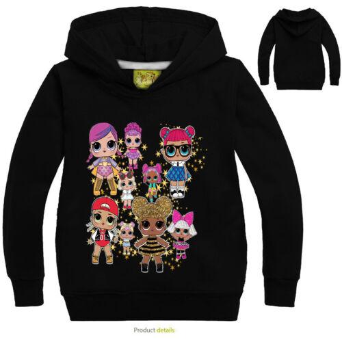 Kids Girls Pullover SweatShirt Hoodies Cartoon Casual Tops Shirt Kid Clothes