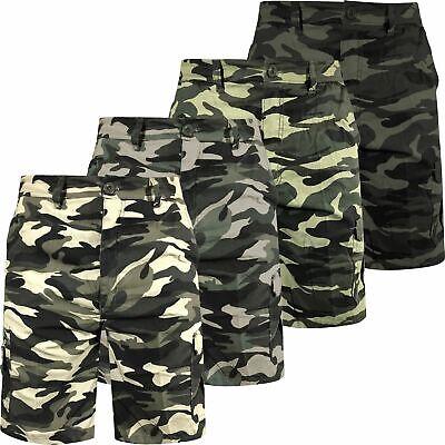 BNWT Mens Dark Green Crosshatch Combat Style Camo Shorts