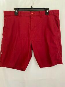 Men S English Laundry Algodon Elastizado Pantalones Cortos Rojo Talla 36 Ebay