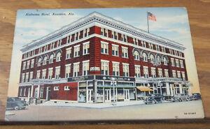 Image Is Loading C1940s Color Postcard Alabama Hotel Anniston Al