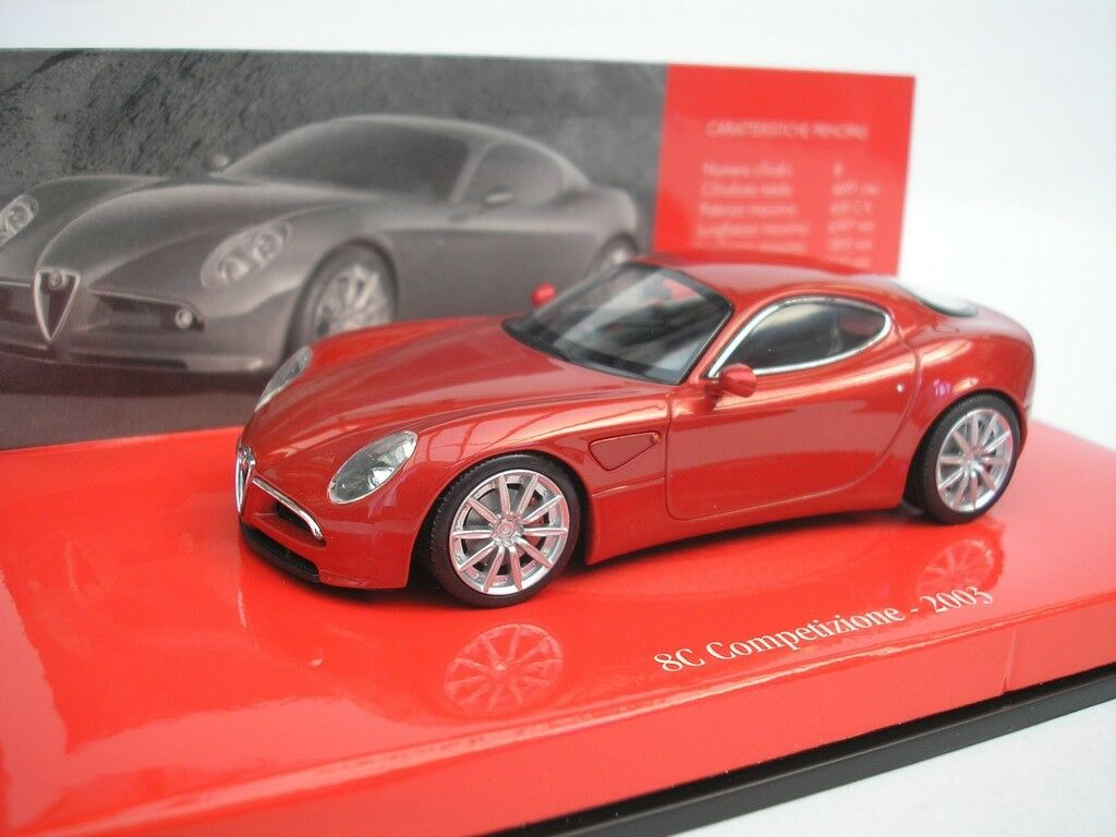 Alfa Romeo 8C Competizione 2003 Red Metallic 1 43 Minichamps 403120523 NEW