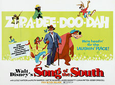 "Song of the South 1946 16"" x 12"" Reproduction Movie Poster Photograph"
