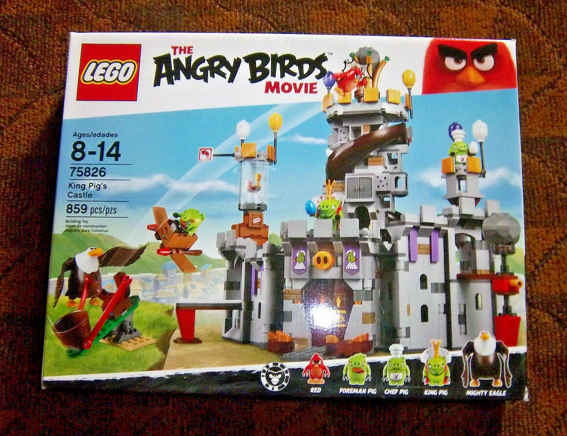 LEGO   75826 ANGRY BIRDS MOVIE - KING PIG'S CASTLE  NEW IN BOX - SEALED RETIrosso