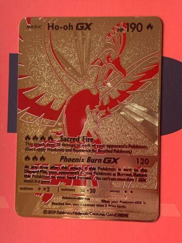 Ho-oh Gx Custom Gold Metal Card
