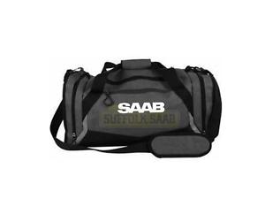 SAAB-GENUINE-GREY-BLACK-DUFFEL-GYM-SPORTS-BAG-EXTREMELY-RARE-GIFT-PRESENT