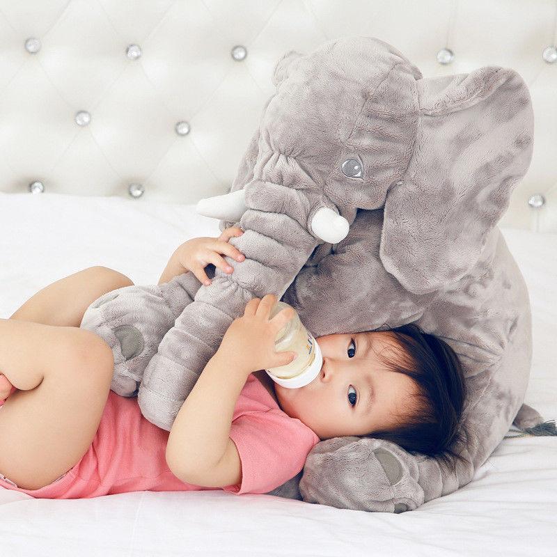 "UK 24"" Large Big Soft Plush Stuffed Elephant Animal Toys Teddy Bear Play Pillow 3"