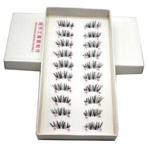10-Pairs-Handmade-Cross-False-Eyelashes-Half-Mini-Corner-Lashes-Winged-Eye-P2Q5