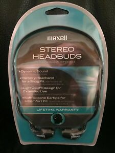 Maxell-Memory-Headband-Stereo-Over-The-Head-Black-Stereo-Earbuds-Comfortable