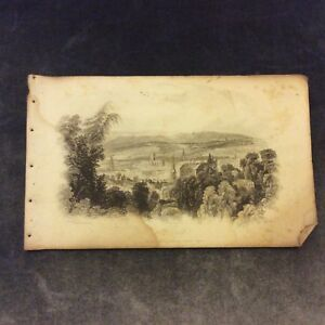 Antique-Book-Print-Bath-from-the-Vicinity-of-Prior-Park-c-1850