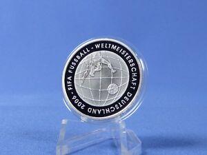 10 Euro Allemagne 2005, A, Au Football Wm, Argent 925 * Pp/proof (rfa - 18 A)-afficher Le Titre D'origine Les Couleurs Sont Frappantes