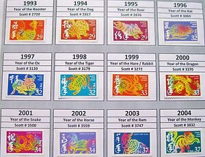 image is loading complete set of 12 lunar or chinese new - Chinese New Year 1993