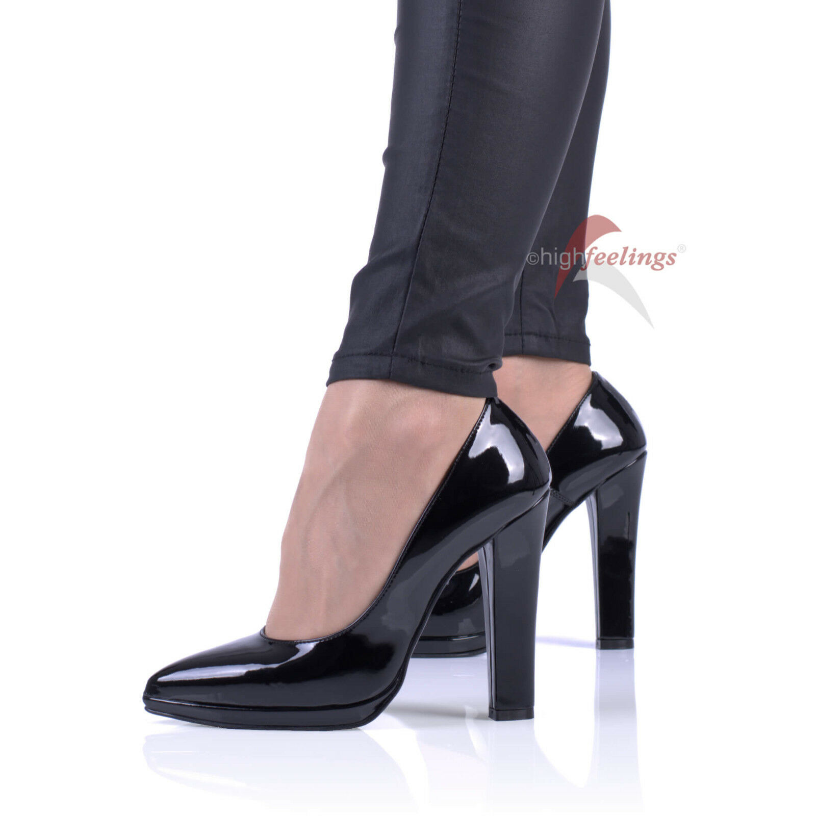 Schwarze Lack Pumps High Heels 11,5 - 13,5 EUR cm Absatz Lackeder Größe EUR 13,5 36 - 47 86930e