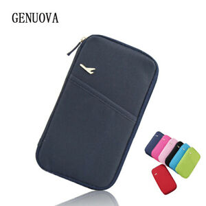 Airplane Travel Bag Organizer Wallet Purse Passport ID Money Credit Card Holder