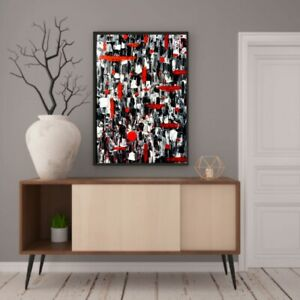 Original abstract expressionism, painting 24X36 canvas, contemporary textured.