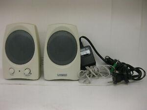 Beige-Cambridge-Soundworks-Creative-GCS300-Computer-Speakers-Adapter-6ft-Audio