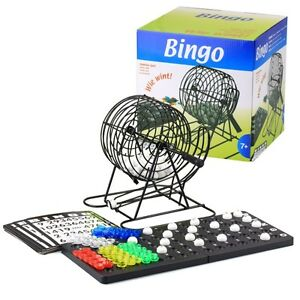 Bingo-Spiel-Set-Metall-Bingotrommel-Bingo-Muehle-Lotto-Trommel-Tombola-Auslosung